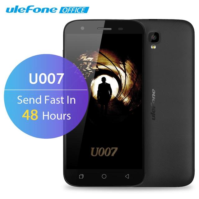 Ulefone U007 Mobile Phone 5 inch HD 1280x720 MTK6580A Quad Core Android 6.0 1GB RAM 8GB ROM 8MP CAM 3G GPS 2200mAh Dual Sim