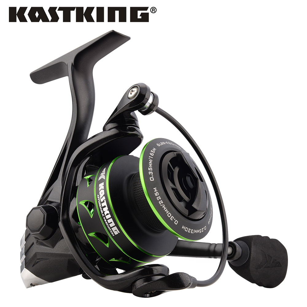 KastKing Eagle Green Super Light Carbon Spinning Reel Max Drag 10KG Fishing Reel for Bass Pike Fishing with 11 Ball Bearings