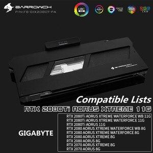 BARROWCH GPU водный блок для Gigabyte RTX 2080/2080Ti AORUS XTREME RTX 2070 полное покрытие LRC2.0 медный блок + алюминиевая крышка