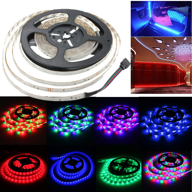 5M RGB LED Strip Light 3014 SMD Waterproof 300 LED DC 12V Flexible Strip Lighting Fairy Lights Party