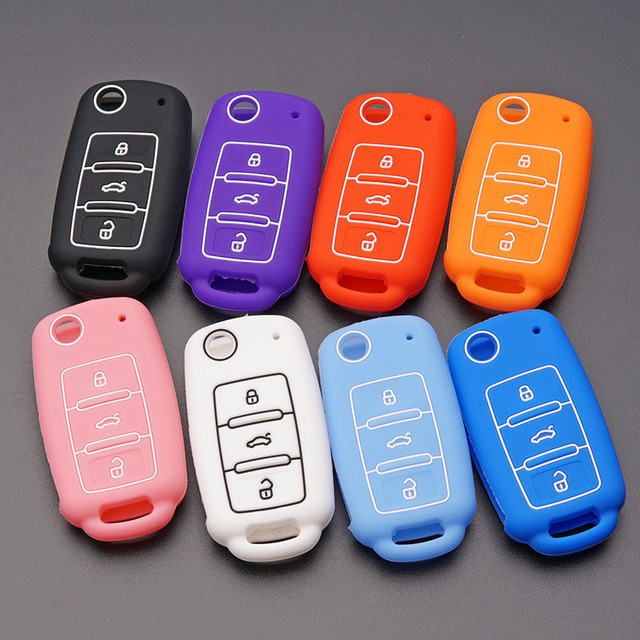 Silicone Rubber Car Key Fob Cover Case Shell Skin Set Sleeve