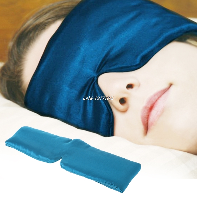 1PC New Silk Sleep Rest Eye Mask Thicker Shade Cover Travel Relax Aid Blindfolds LNG5 все цены