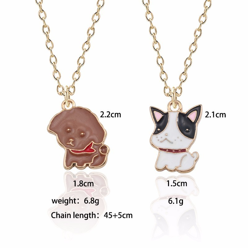 New Fashion Cute Dog Necklace Woman Animal Puppy Pendant Kawaii Corgi Teddy Dog Pendant Necklace Christmas Child Gift Jewelry in Pendant Necklaces from Jewelry Accessories