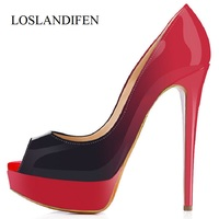 LOSLANDIFEN Sexy Party Shoes For Woman Soft Leather Women S Shoes High Heels Wedding Shoes Women