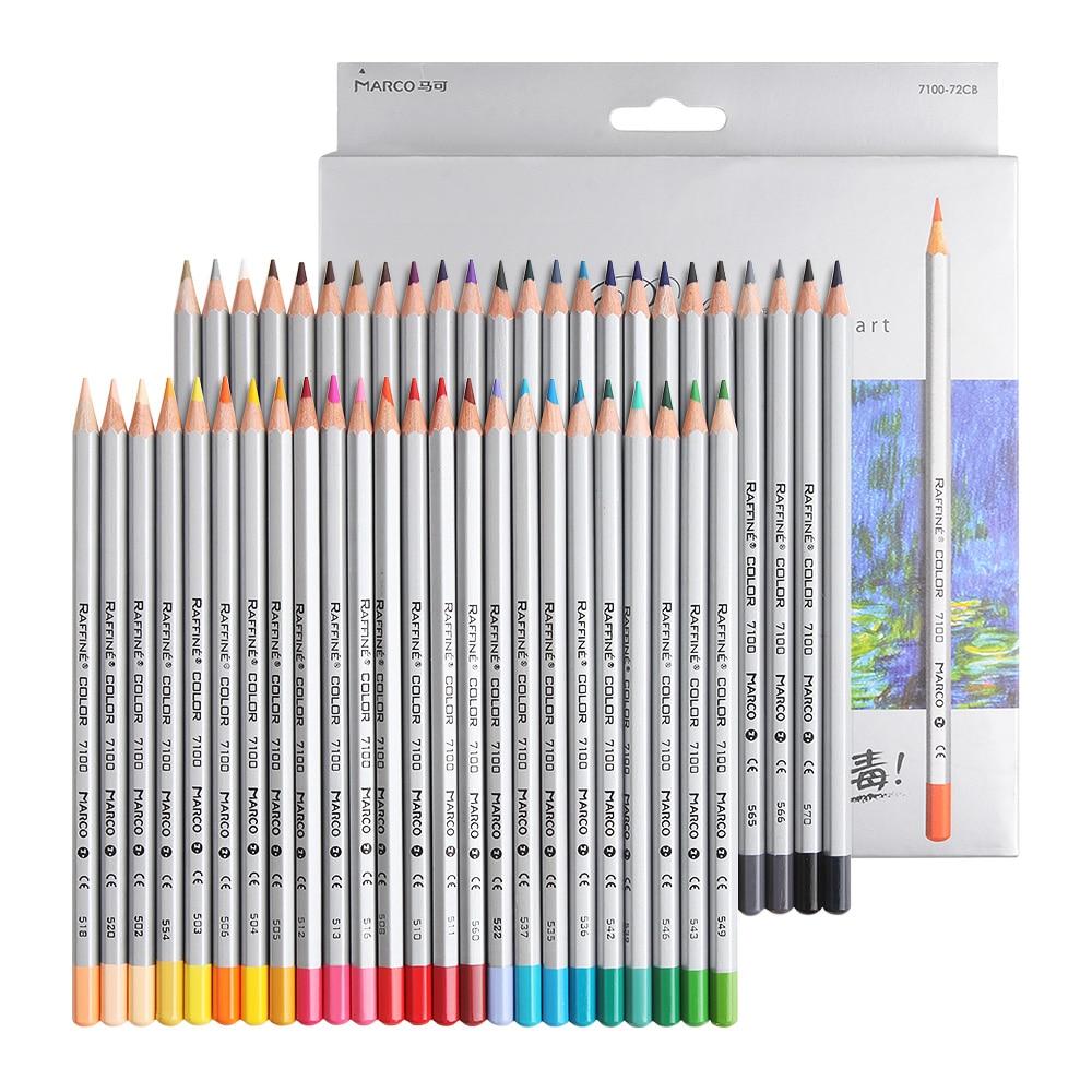 Marco Raffine Art Colored Pencils 48/72 Colors Wood Lapis De Cor Artist Painting Oil Color Pencil For School Non-toxic