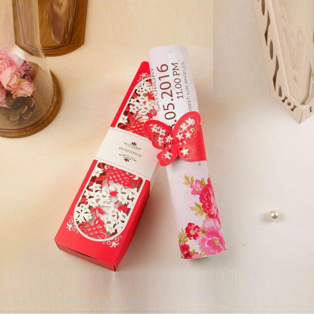 Aliexpress.com : Buy New Laser Cut Butterfly Wedding Invitation ...