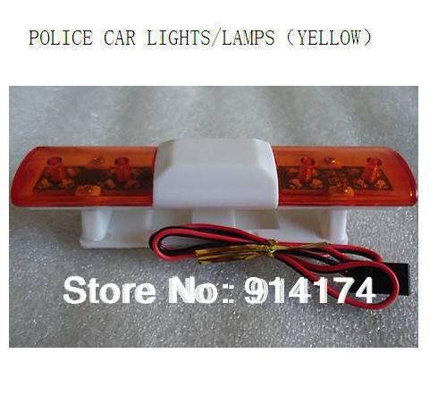 YUKALA RC Car accessories r/c car parts Police car LED lights/ lamps for 1/10 RC car body shell yellow free shipping