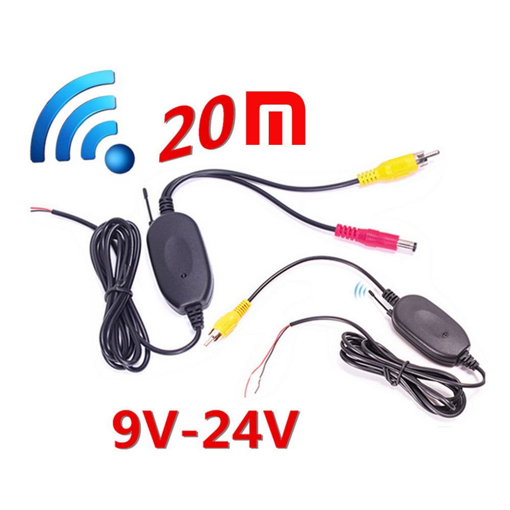 Parking Car Wireless Rear Camera Reverse Car DVD Backup RCA Video Wireless 20M 2.4Ghz Transmitter Receiver Kit for Nissa BMWParking Car Wireless Rear Camera Reverse Car DVD Backup RCA Video Wireless 20M 2.4Ghz Transmitter Receiver Kit for Nissa BMW