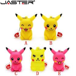 JASTER модный хит продаж креативный U диск 2,0 32 ГБ 16 ГБ 8 ГБ 4 ГБ 64 Гб мультфильм Pocket ELF Пикачу реальная емкость USB флэш-накопитель