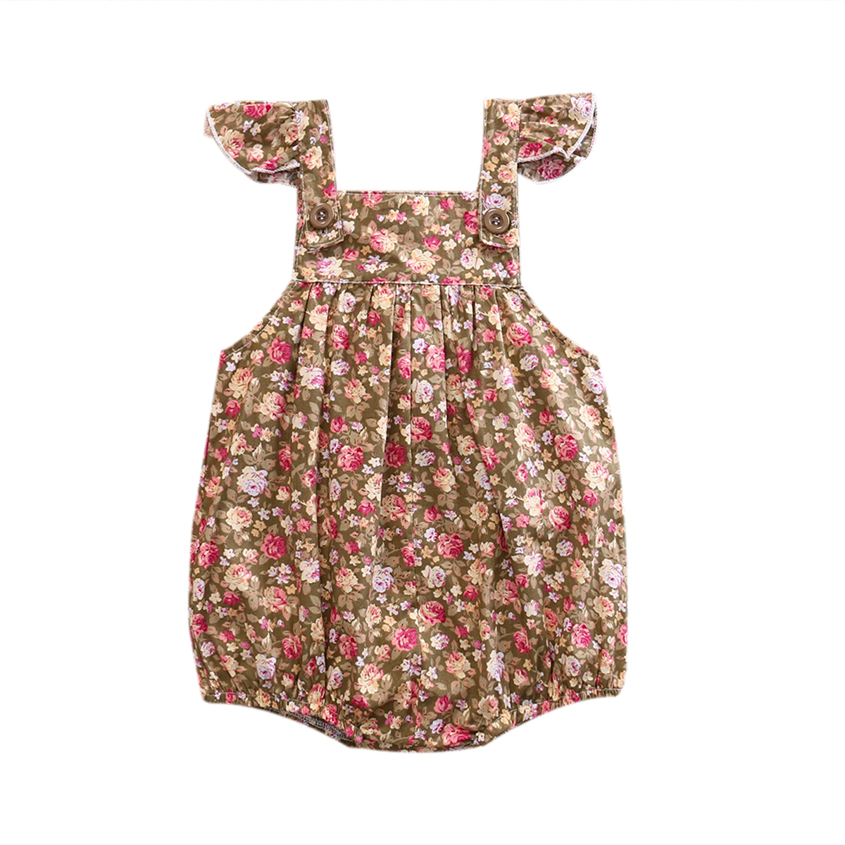 Newborn Infant Baby Girl Floral Rompers Jumpsuit Sunsuit Cotton One-Pieces Clothes Girls Summer Outfits
