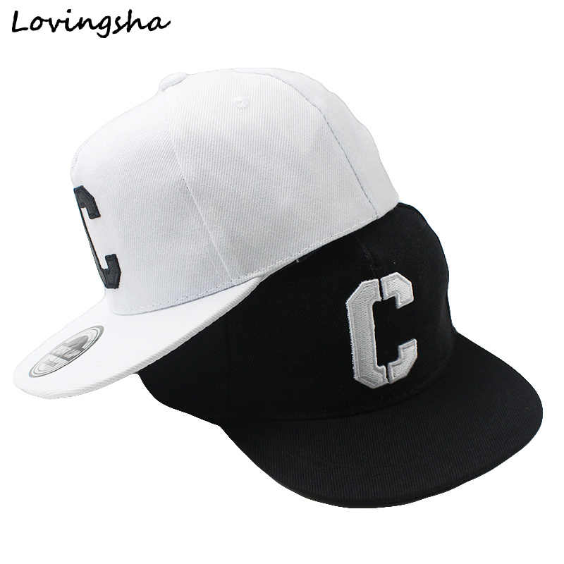 "LOVINGSHA Boy Baseball Caps 3-8 Years Old Kid Snapback Caps Letter ""C"" Design High Quslity Adjustable caps For Girl CC079"