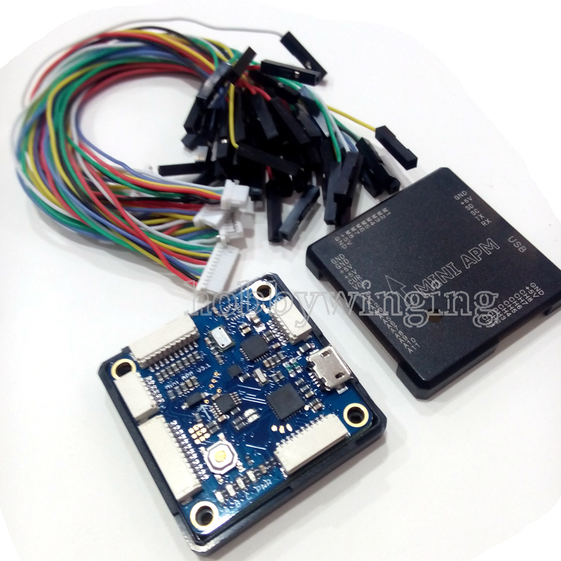 Mini APM V3.1 Mini ArduPilot Mega External Compass APM Flight Controller apm2 6 ardupilot mega apm flight controller board w side pin connector case cable for ardupilot mega 2 6
