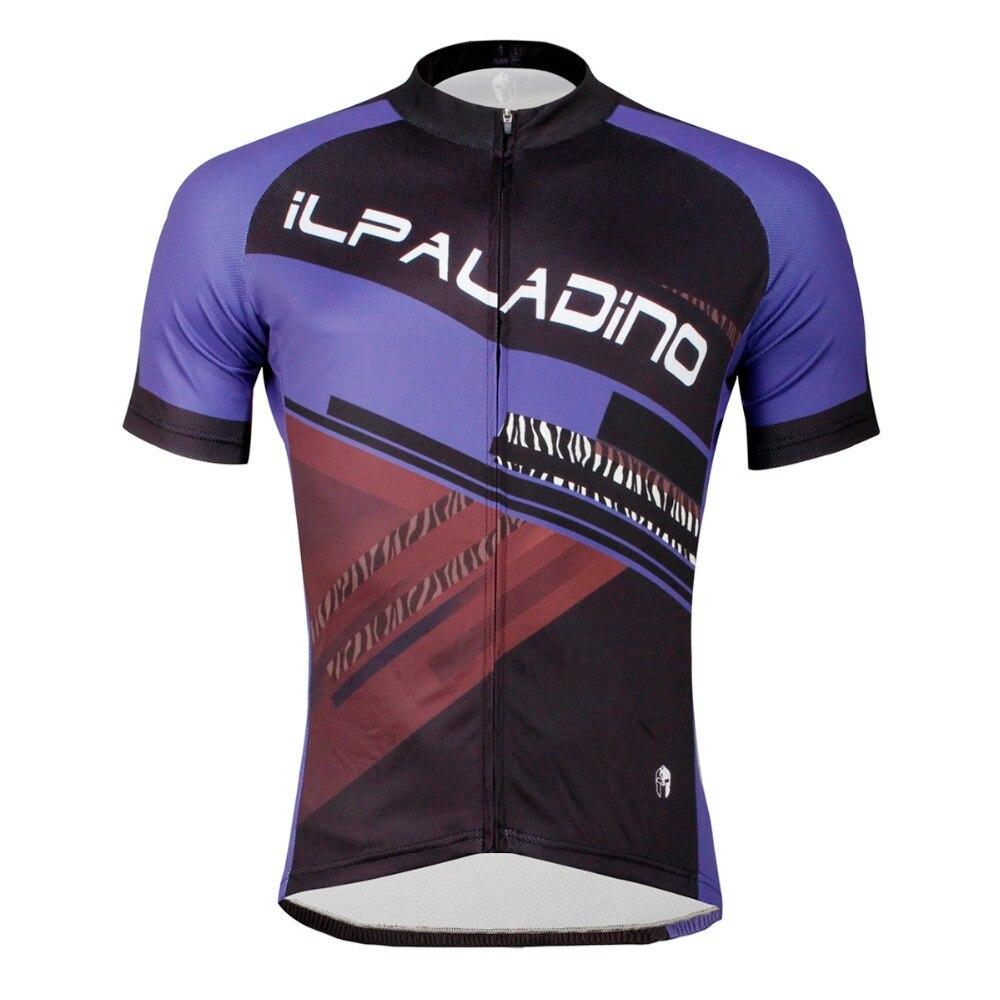 ILPALADINO Short Sleeve Cycling Jersey Men s Riding Bike Wear Blue Purple  Bicycle Ropa Ciclismo Maillot Pro 11d221fce