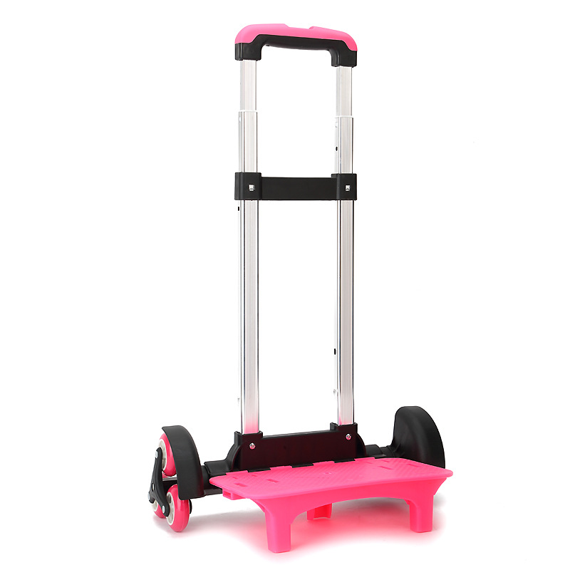 Support En Panier Chariot Enfants Dos D'école pink À Bagages 6 Sac Pour De Rouleau Traction Extensible Alliage Black Tige Enfant D'aluminium Roues Et rXwr0F