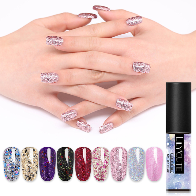 LILYCUTE 5ml  Glitter UV Gel