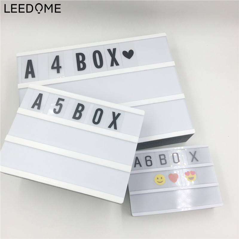 Leedome White LED Advertising Lights LED DIY Letter Card Combination Light Box Night Lamp For Selling Promotion Meeting A4 A5 A6