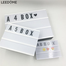 цена на Leedome White LED Advertising Lights LED DIY Letter Card Combination Light Box Night Lamp For Selling Promotion Meeting A4 A5 A6