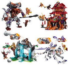 2019 Journey West Cow Devil Chariot Gyro Combination Marvel Building Blocks Kits Toys Compatible legoergy Nexus Ninja kids gift lepin nexo knights axl jestros volcano lair combination marvel building blocks kits toys figures compatible nexus 181
