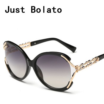 Women Sun Glasses Luxury Black Summer Style Vintage Cat Eye For Lady Crystal