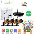 IPCC 4-Channel 960 p nvr kit ip wi-fi câmera de Segurança Ao Ar Livre Sistema de câmera de 960 P câmera de Vídeo Vigilância CCTV 4CH NVR wi-fi Kits