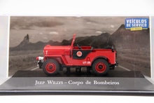 IXO Altaya 1:43 Scale Jeep Willys Corpo De Bombeiros Auto Diecast Models Toys Car Collection Red auto inn ixo 1 43 gurgel carajas corpo de bombeiros diecast model car