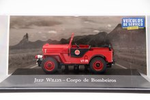 IXO Altaya 1:43 Scale Jeep Willys Corpo De Bombeiros Auto Diecast Models Toys Car Collection Red(China)