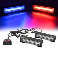 12V Red Blue Amber Car COB LED Flash Emergency Strobe light Car Grille lamp Ultra Bright led warning Light Head