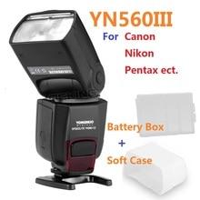 Yongnuo YN-560III YN560 III wireless Flash Speedlite Speedlight for Canon Nikon Pentax Olympus E520 K-7 450D 60D 5D D3100 G10GK