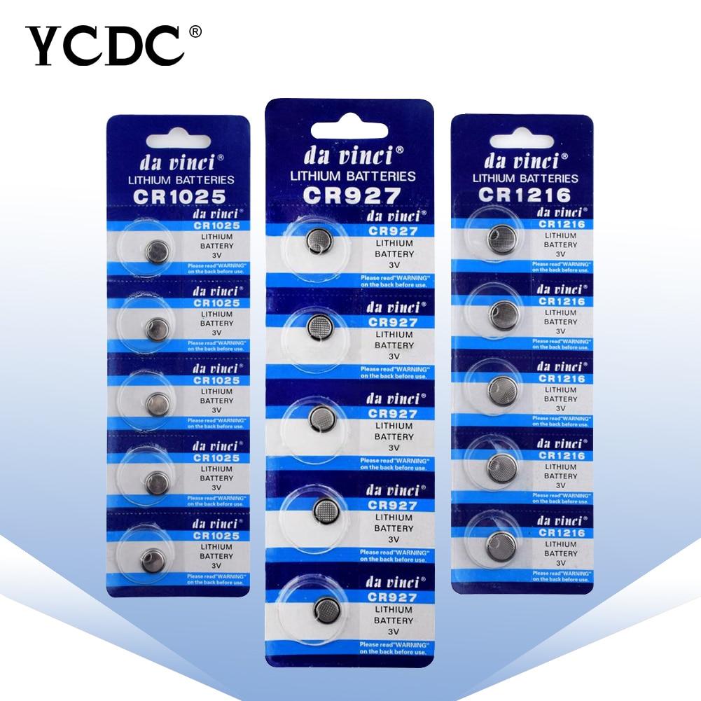 Cheap High Quality New 5PCS/CARD CR2430 CR2330 CR2032 CR2025 CR2016 CR2450 3V Lithium Battery CR 2450 Button Cell Batteries