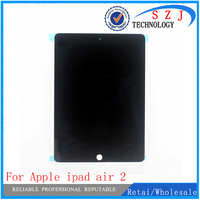 New for Apple ipad air 2 Lcd Display with Touch Screen Digitizer for ipad 6 ipad air 2 A1567 A1566 Black White Free Ship
