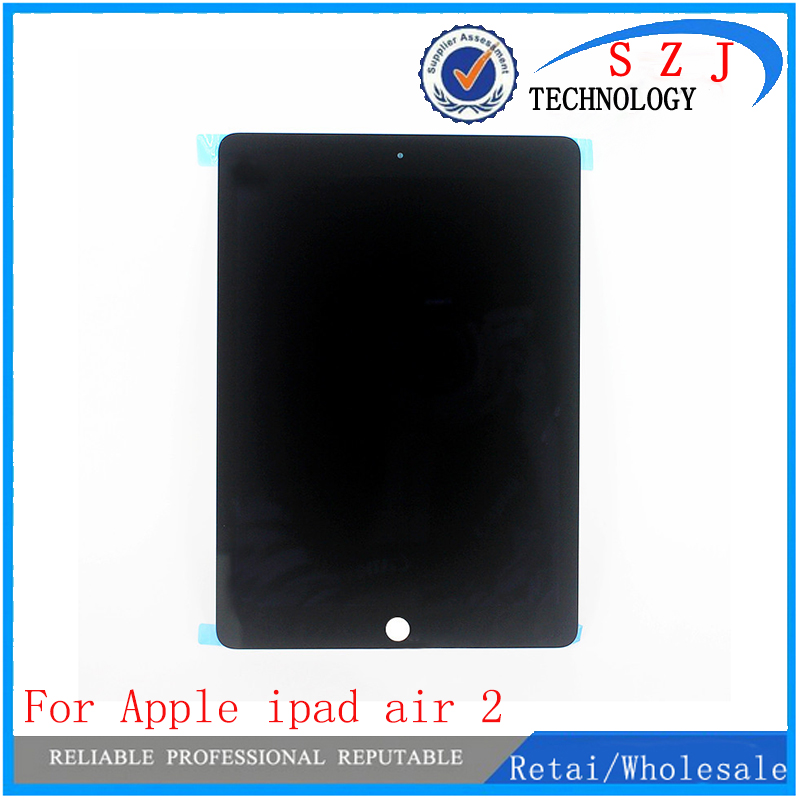 Original for Apple ipad air 2 Lcd Display with Touch Screen Digitizer for ipad 6 ipad air 2 A1567 A1566 Black White Free Ship 10pcs lot a quality for iphone 6 lcd display with touch screen digitizer assembly black white lcd free ship oem