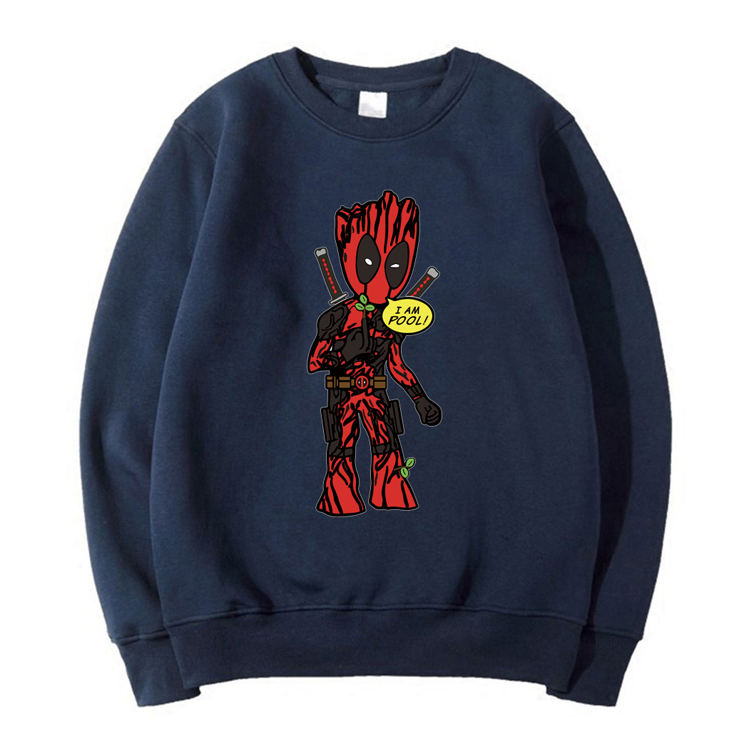 groot i am pool pullovers man autumn long sleeve o-neck hoodies New arrival deadpool sweatshirt funny free style tracksuits 2019