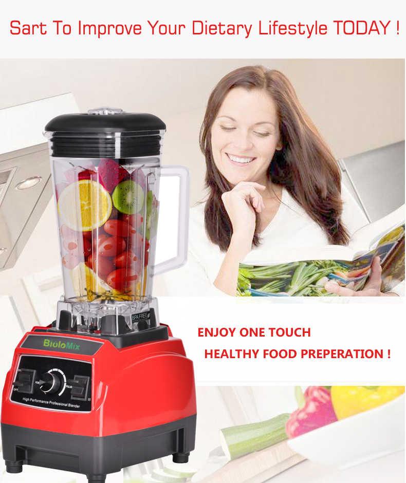 3hp 2200 w bpa livre 2l pesados grau comercial energia liquidificador misturador juicer processador de cozinha alta potência fruta smoothie gelo