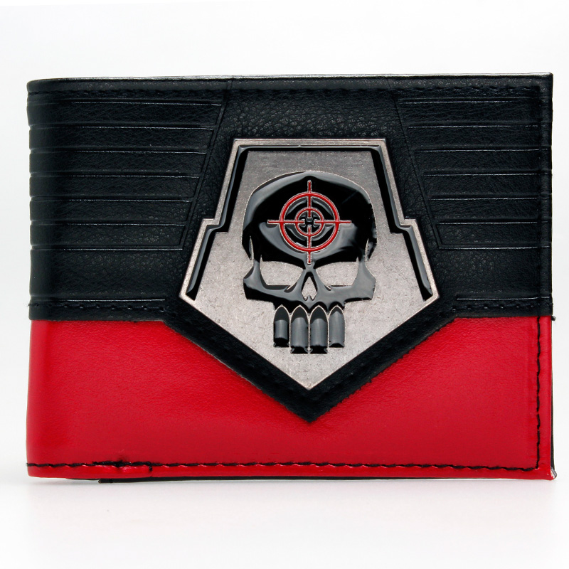 DC Comics Suicide Squad Deadshot Bifold Wallet DFT-1829 mens batman logo badge bifold wallet dft 1327