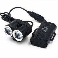Nieuwe 5000LM 2x XM-T6 Witte LED Waterdichte Aluminium Voor Fietslicht Fiets Koplamp Koplamp Lamp Fietsen Lichten