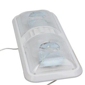 Image 5 - 28.5 سنتيمتر 12 فولت LED قافلة أضواء الداخلية RV القافلة المتنقلة مصباح المحرك اكسسوارات المنزل قبة ضوء مع التبديل