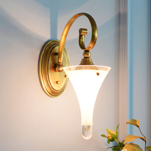 Lámpara de pared de cobre Vintage estilo europeo, lámpara para niños, iluminación creativa para porche, lámpara de noche para dormitorio, luces de pared para el hogar