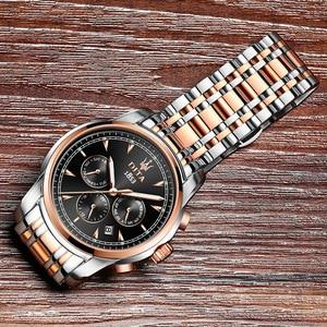 Image 4 - Otomatik hareket büyük hediye otomatik izle altın kol saati paslanmaz çelik geri su geçirmez çok fonksiyonlu izle