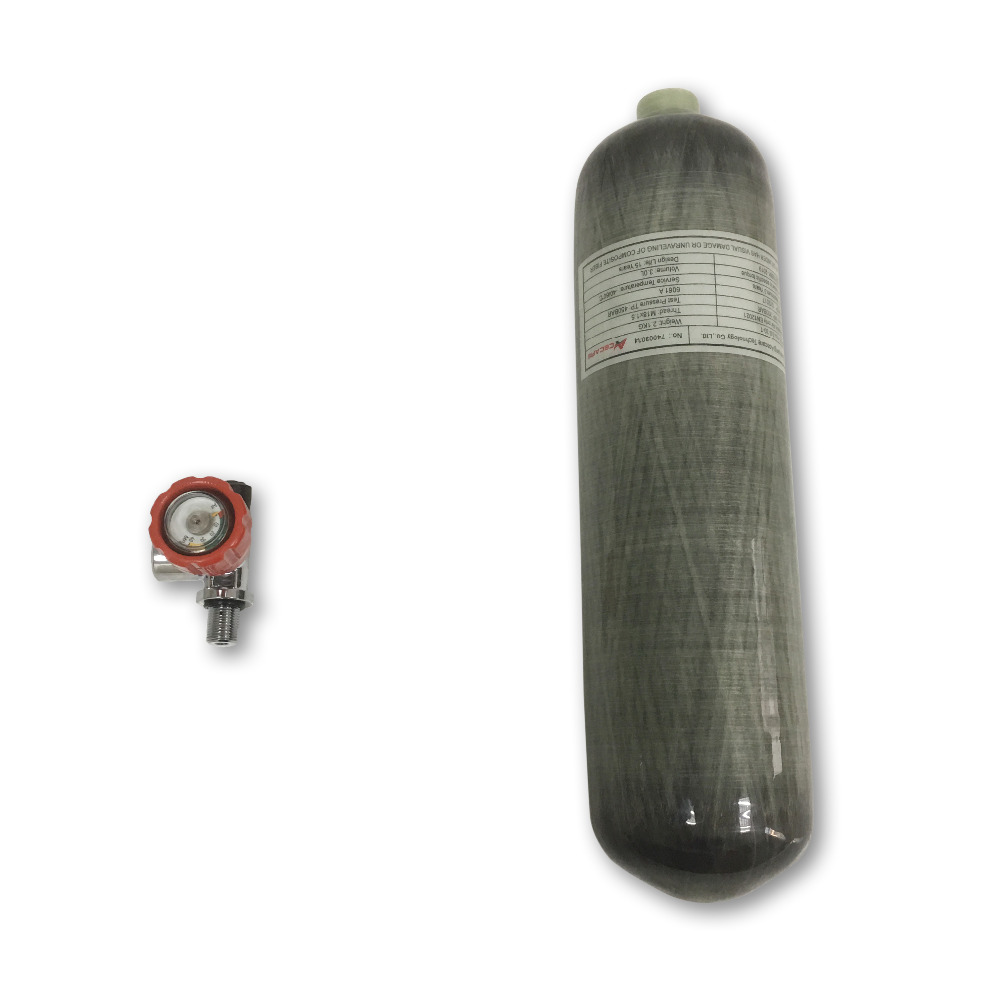 AC10311 High Pressure Carbon Fiber Cylinder 3L Paintball Tank Rifle Compressed Air Bottle Airgun Breathing Apparatus Acecare