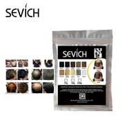 Sevich кератин волокна для наращивания волос запасной мешок 100 г продукты для выпадения волос черный темно-коричневый