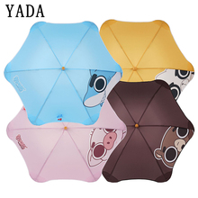 YADA Hight Quality Cartoon Shark Panda Automatic Umbrella For Women Men Anti-UV New Portable Transparent Umbrellas Parasol YS611