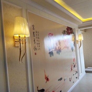 קרן טופר מודרני ברזל בד קיר מחוון כפול מנורת קיר ליד המיטה בחדר השינה E27 Luminaire אור גופי פמוט קיר אור