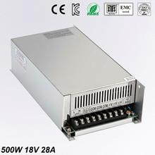DC18V 28A 500W Switching Switch Power Supply 18V unit Transformer 220v 110v AC-DC Universal block power for LED Strip 3D Print стоимость