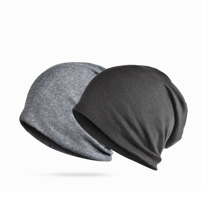 Brand NUZADA Solid Color Unisex Men Women Skullies Beanies Hedging Cap Knit Knitted Cotton Double Layer Fabric Caps Bonnet Hat 4
