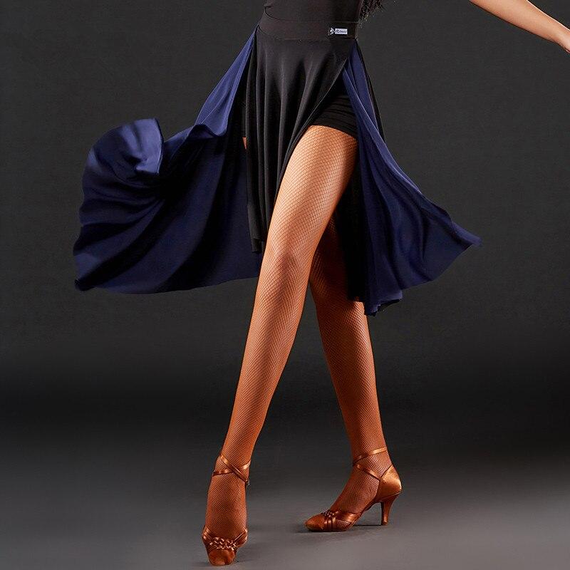 2019 New Arrival Women Latin Dance Skirt Performance Costume Lady Tango/Cha Cha/Rumba/Samba Dress Skirts Competition WearDQS1004