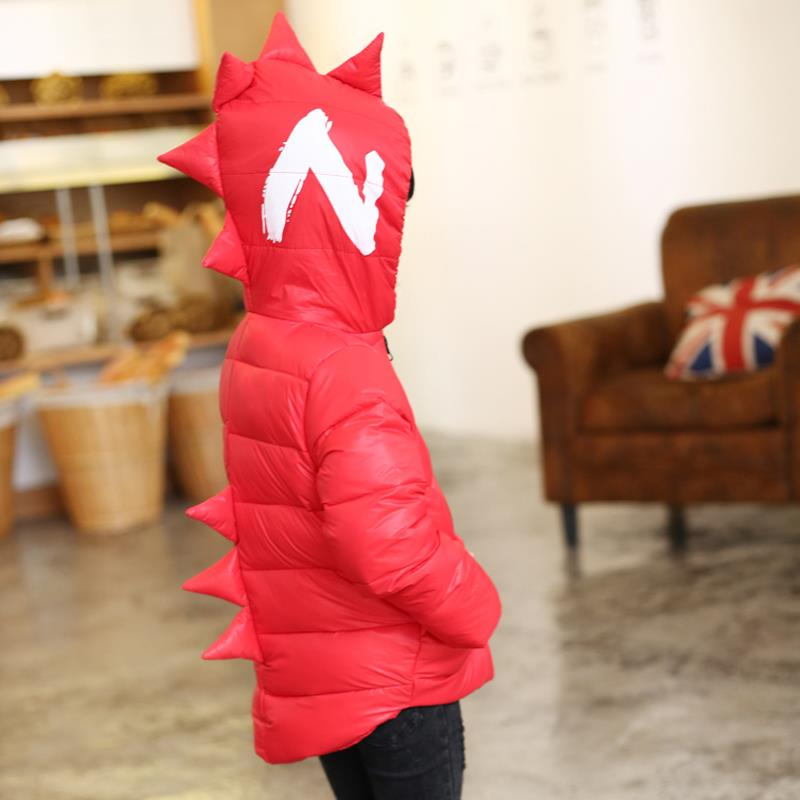 Winter Children Boys Jackets Cartoon Tyrannosaurus Girls Winter Coat Kids Outerwear Baby Boys/Girls Down Jacket Infant Clothes 14