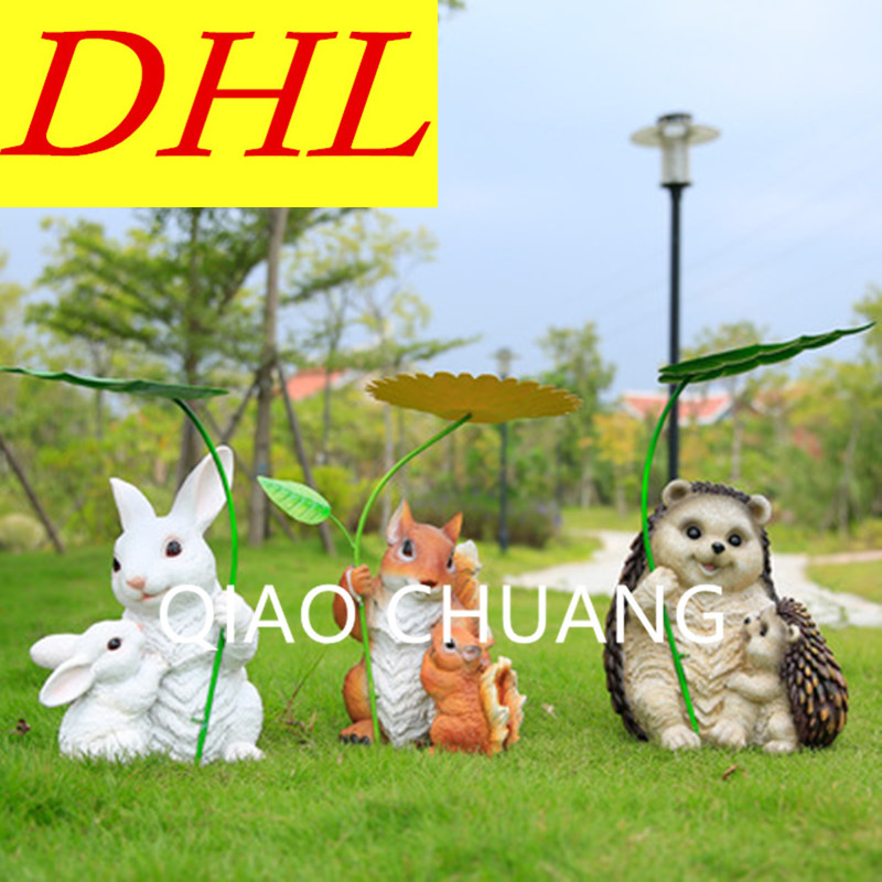 Creative Simulation Animal Squirrel Rabbit Hedgehog Colophony Crafts Sculpture Model Garden Decoration G1055 musician ludwig van beethoven western classical composer chill casting copper head sculpture colophony crafts decoration g1004