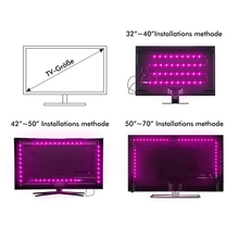 LED Strips for TV Background Lighting with Remote Control 4 pcs