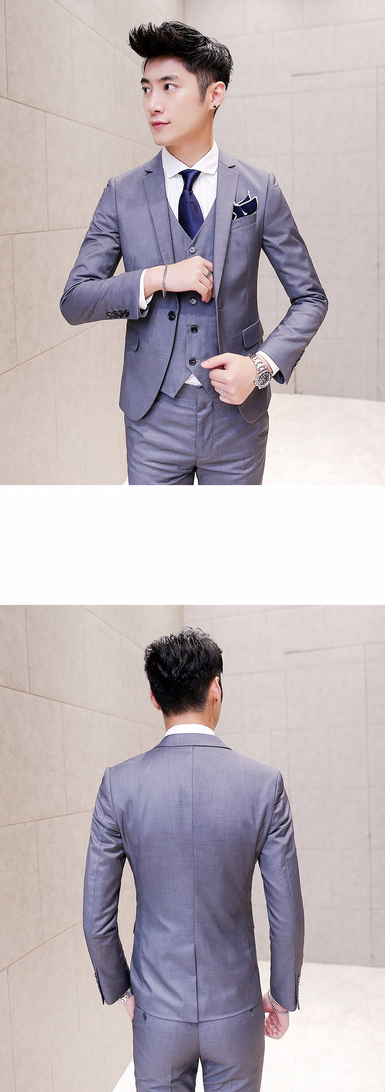 gray modern mens suits