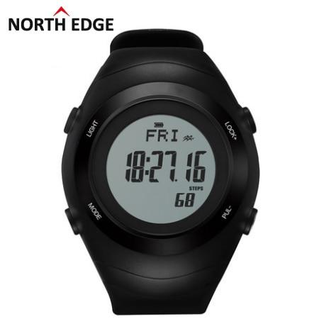 2016 Sports watch heart rate monitor sensor 3D Pedometer watches men running digital wristwatches outdoor chest  men's calorie